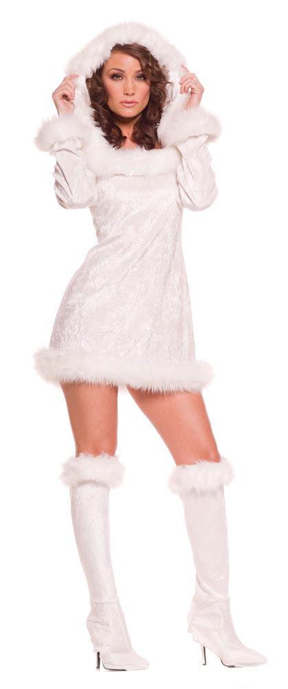 Sexy Snow Bunny Costume - Mr. Costumes
