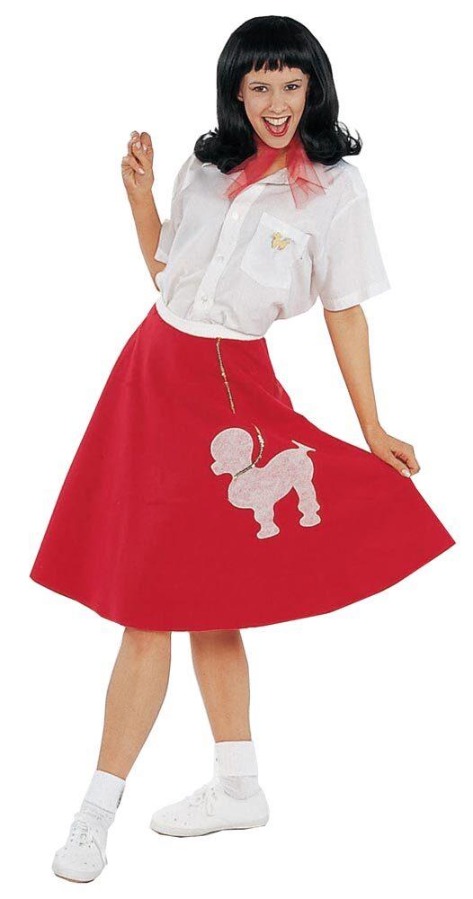 Model  Costume  Poodle Costume  Blackhot Pink Mini Poodle Skirt Adult