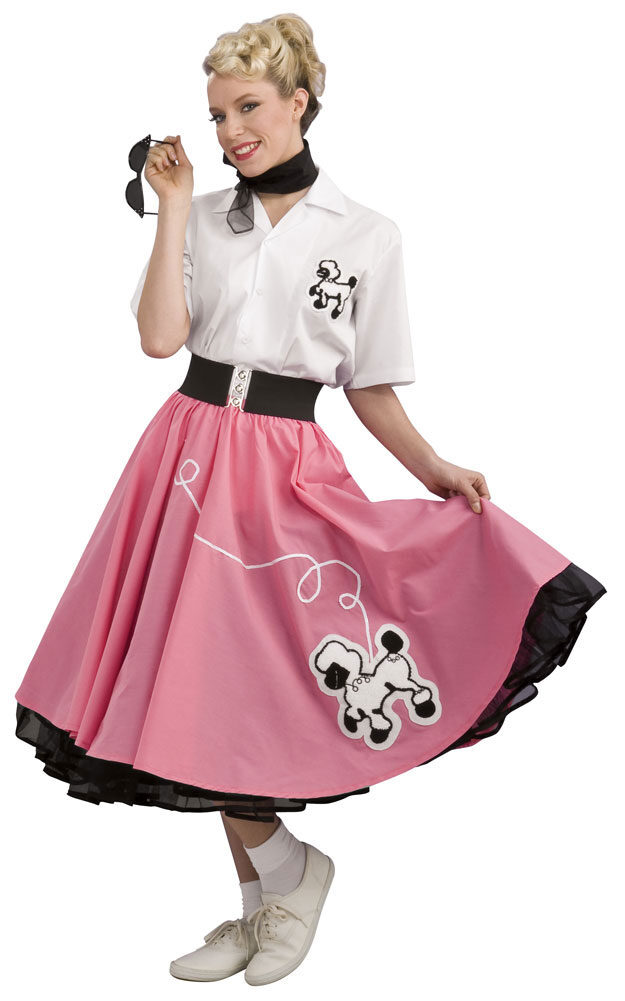 Grand Heritage Pink 50s Poodle Skirt Costume Mr Costumes