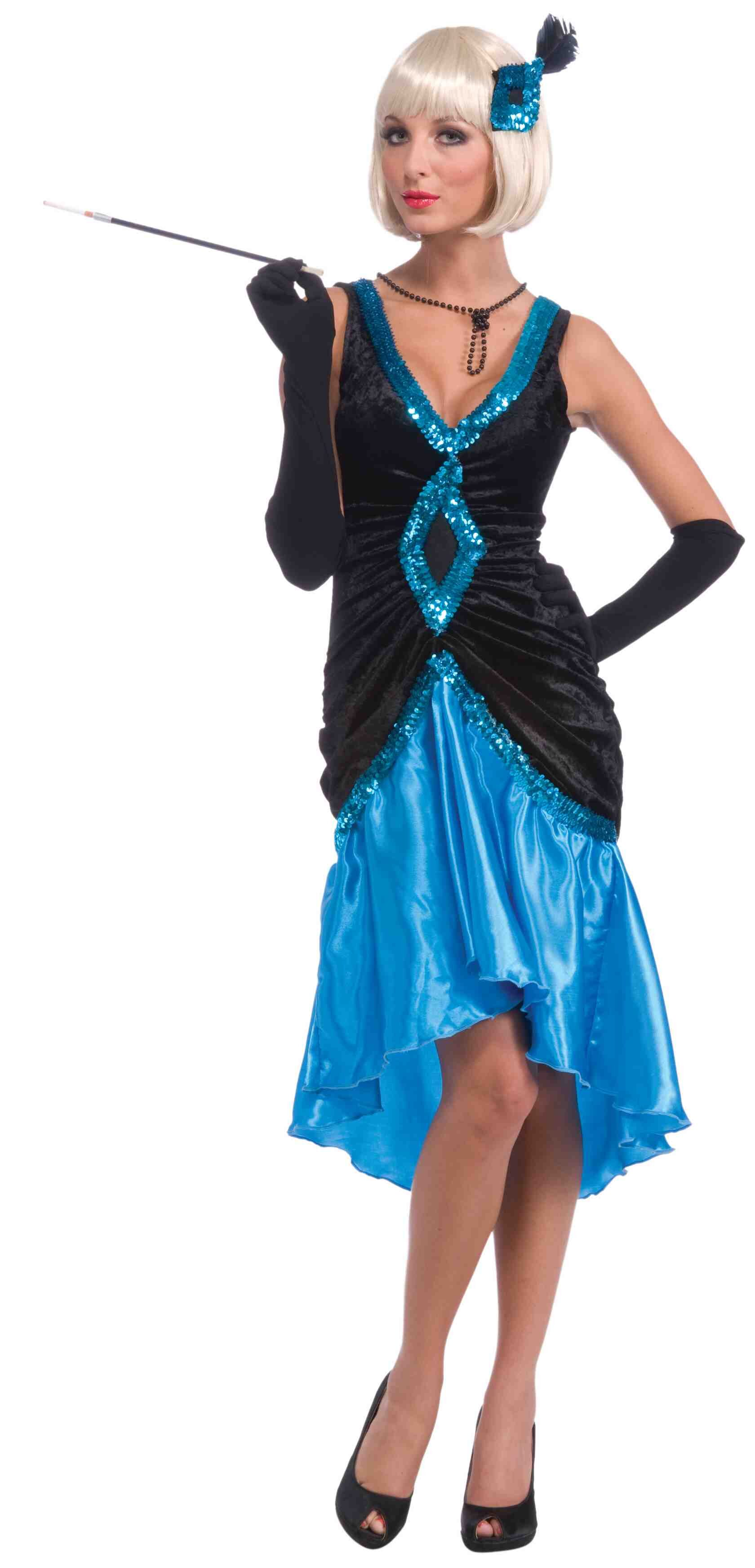 1920s Betty Blue Flapper Adult Costume - Mr. Costumes