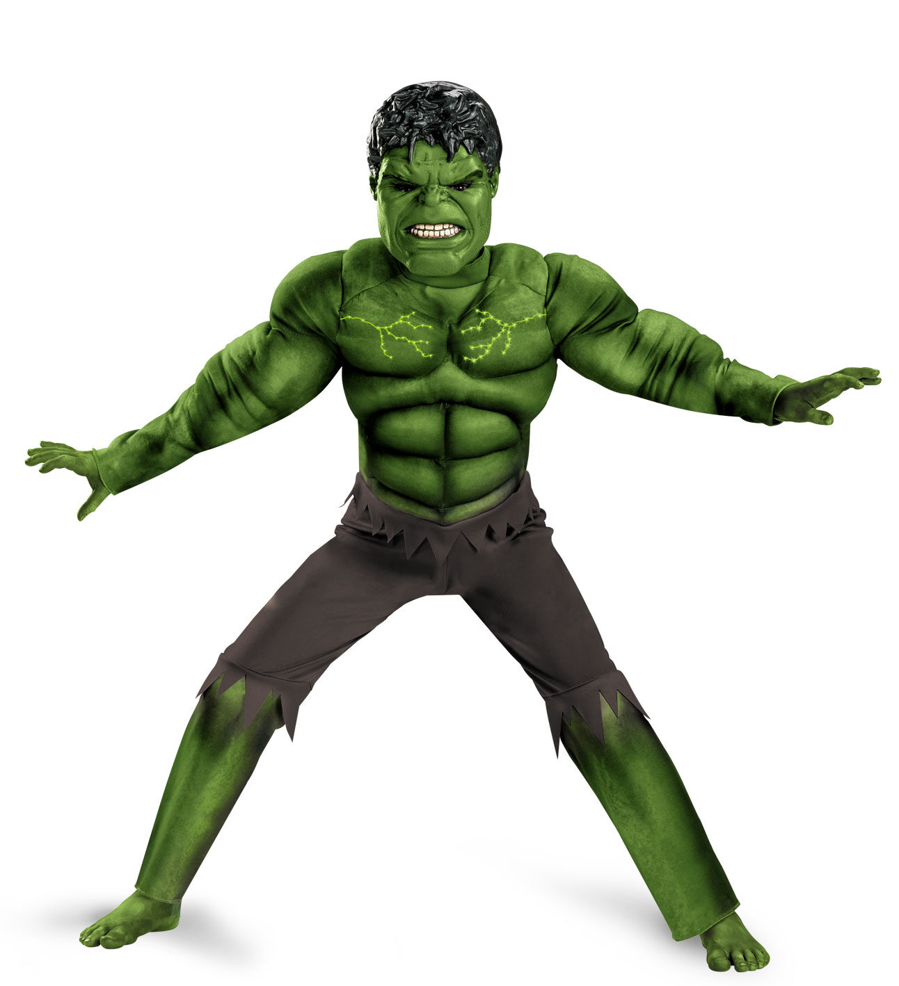 boys hulk light up muscle chest avengers kids costume mr
