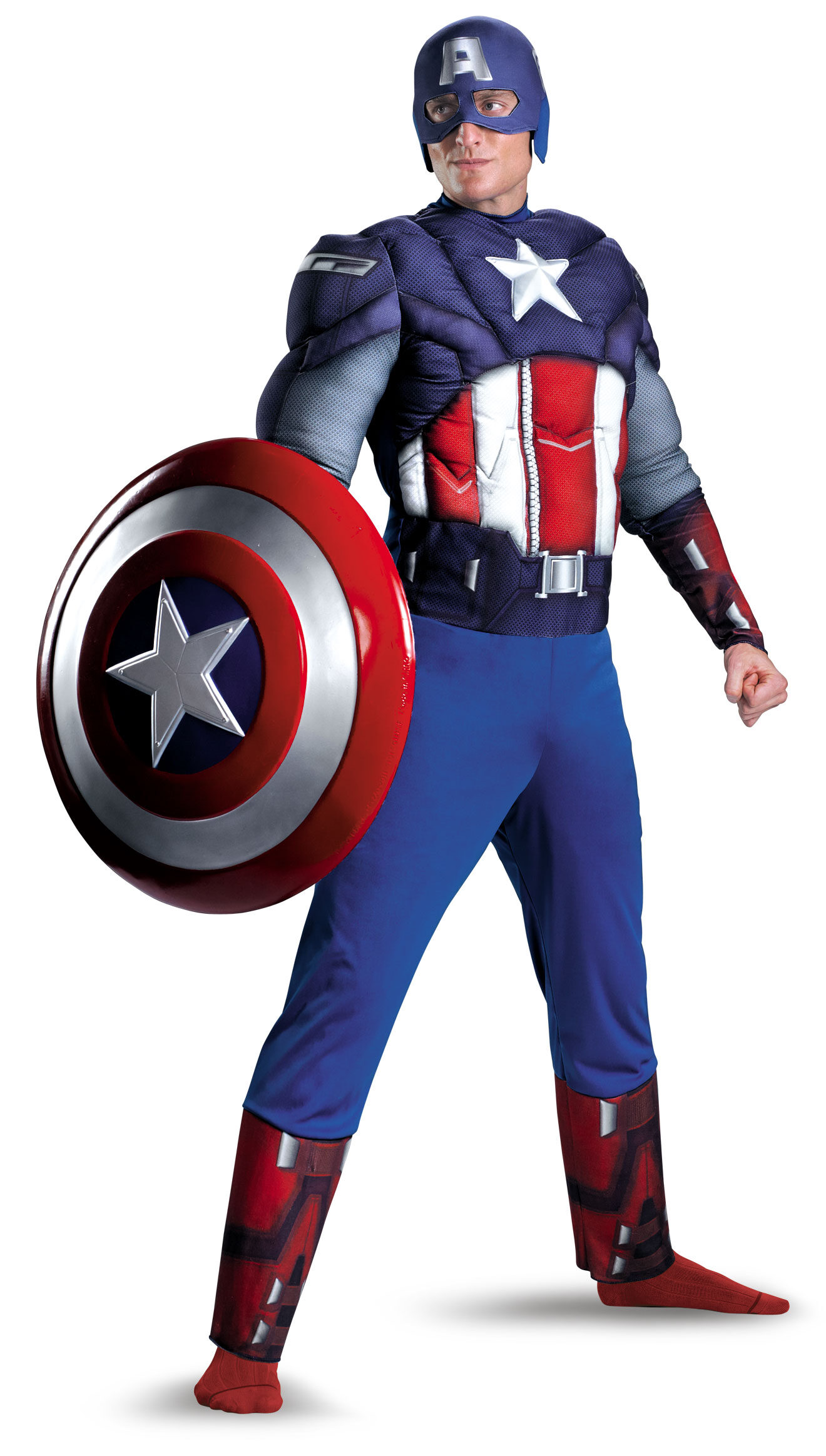 Was and captain america adult costume