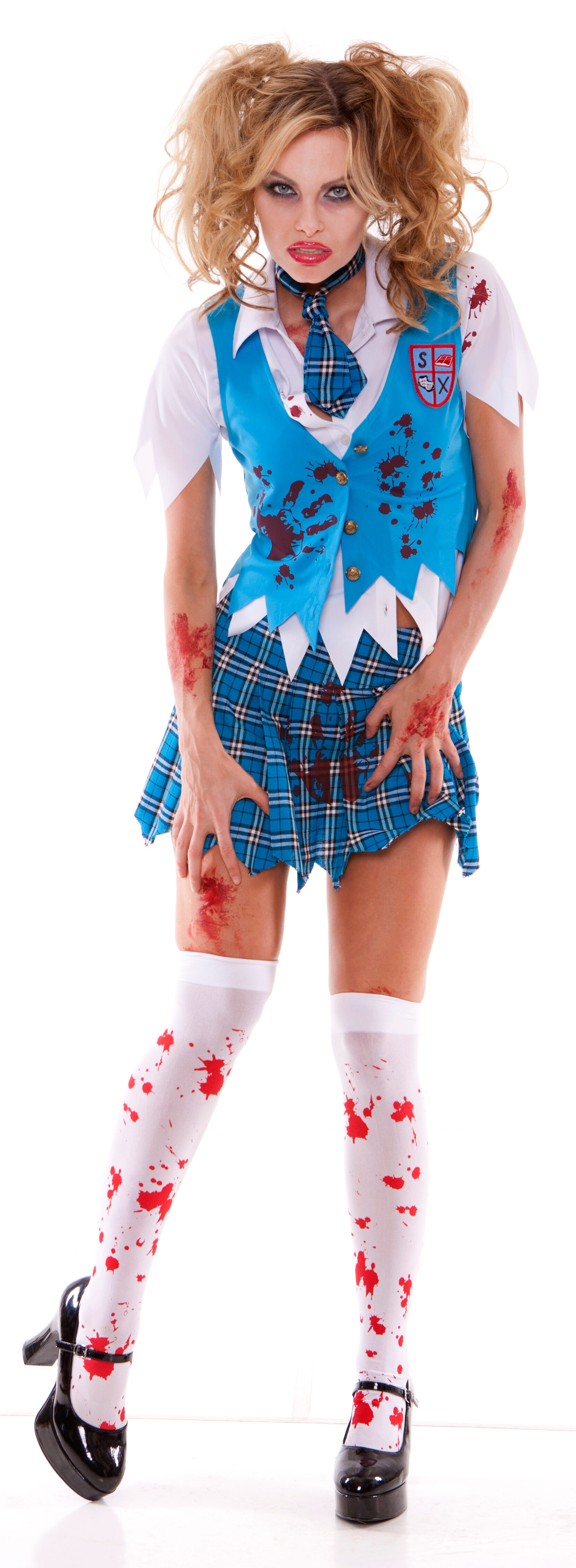 School Girl Spectre Zombie Adult Costume - Mr. Costumes