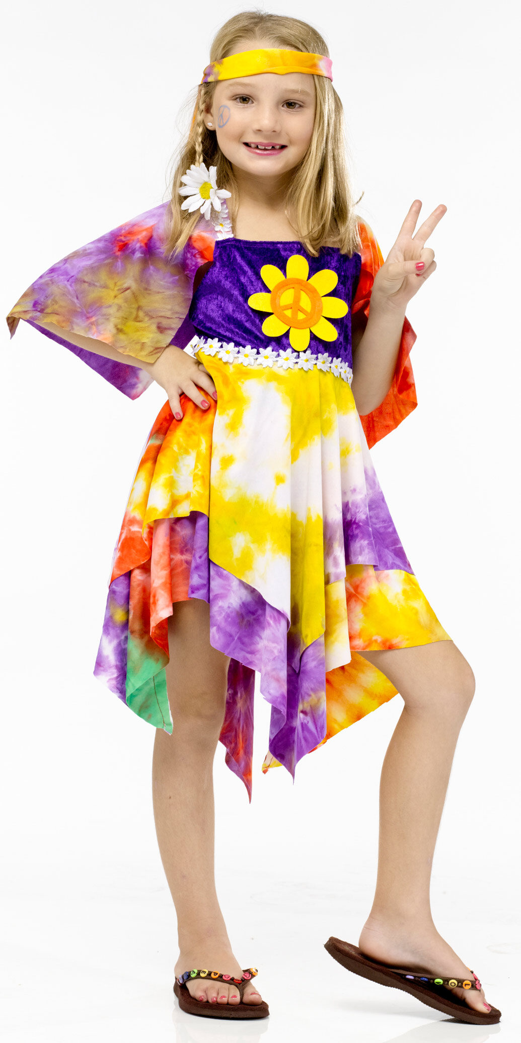 Peace And Love Hippie Girls Toddler Costume