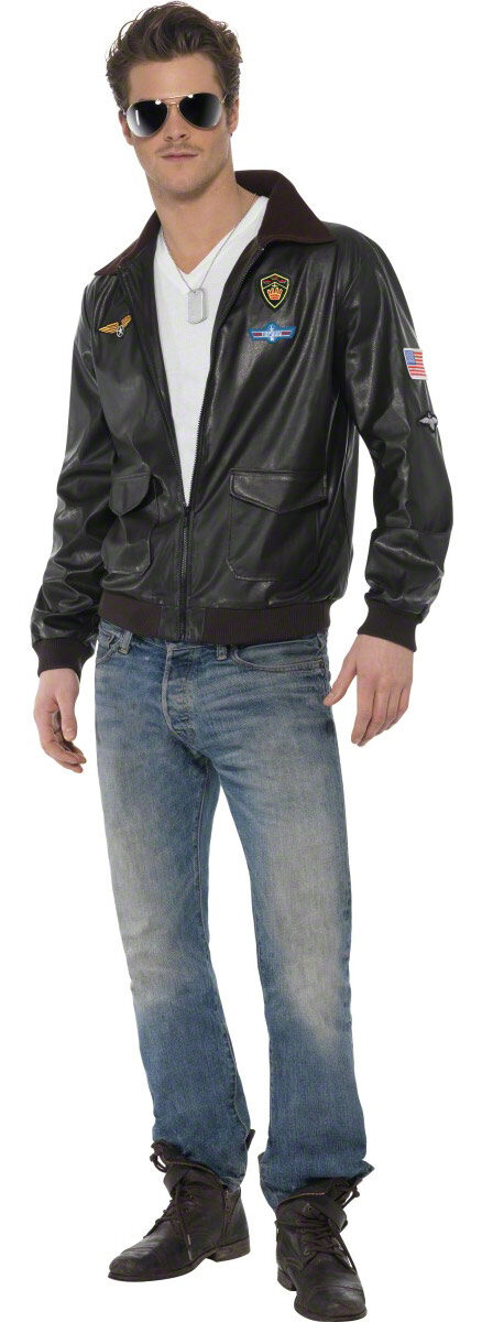 Top Gun Pilot Jacket Adult Costume Mr Costumes