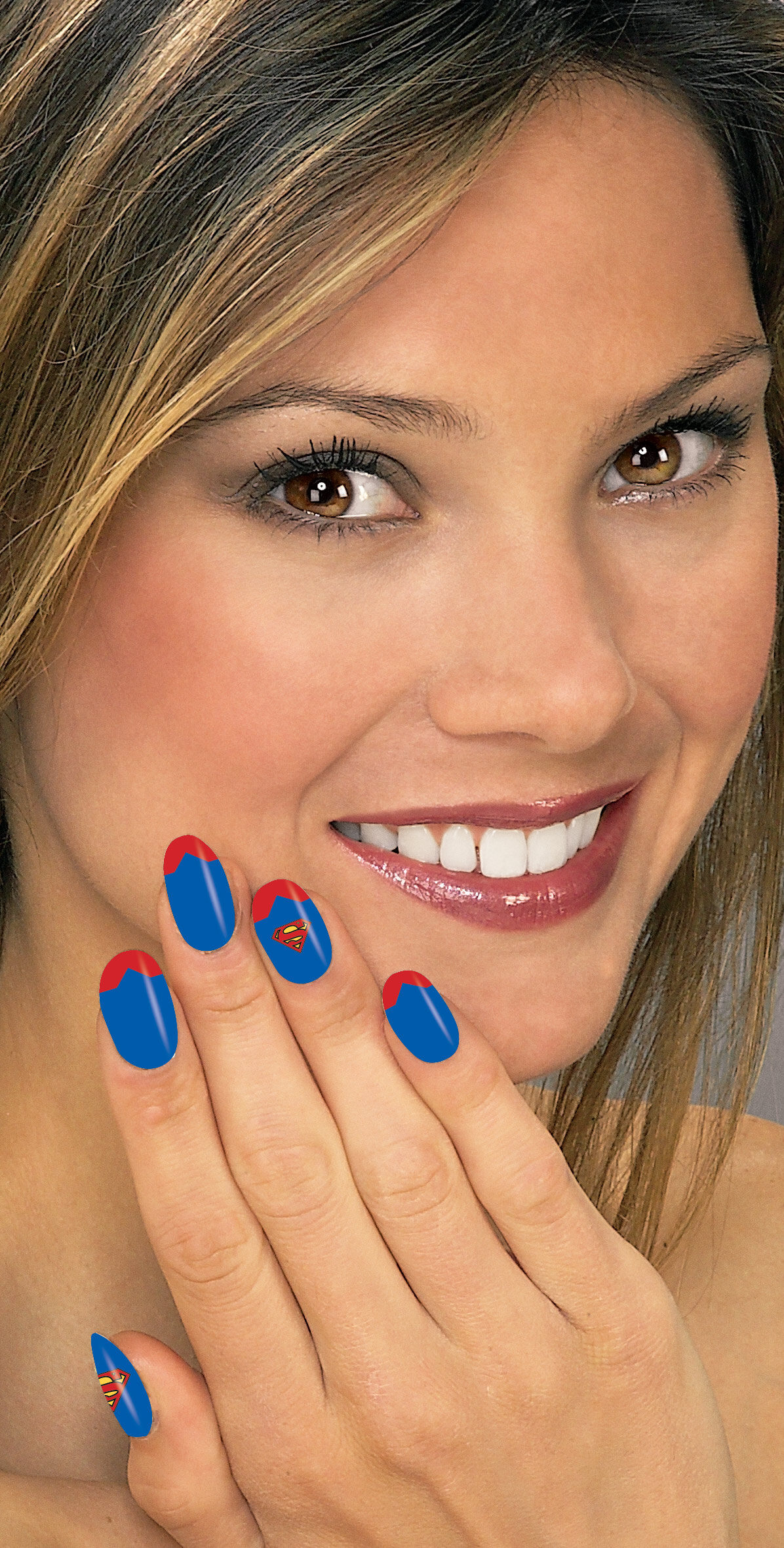 Supergirl Nail Art Strips Mr Costumes