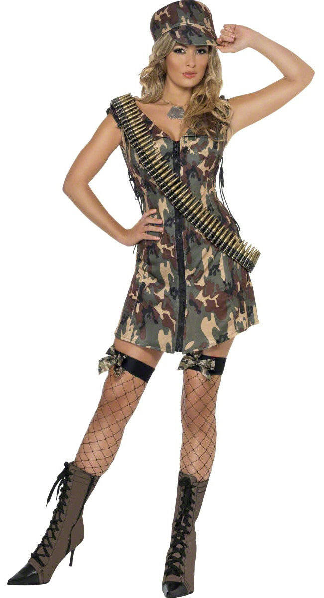 Sexy army girl costume happens