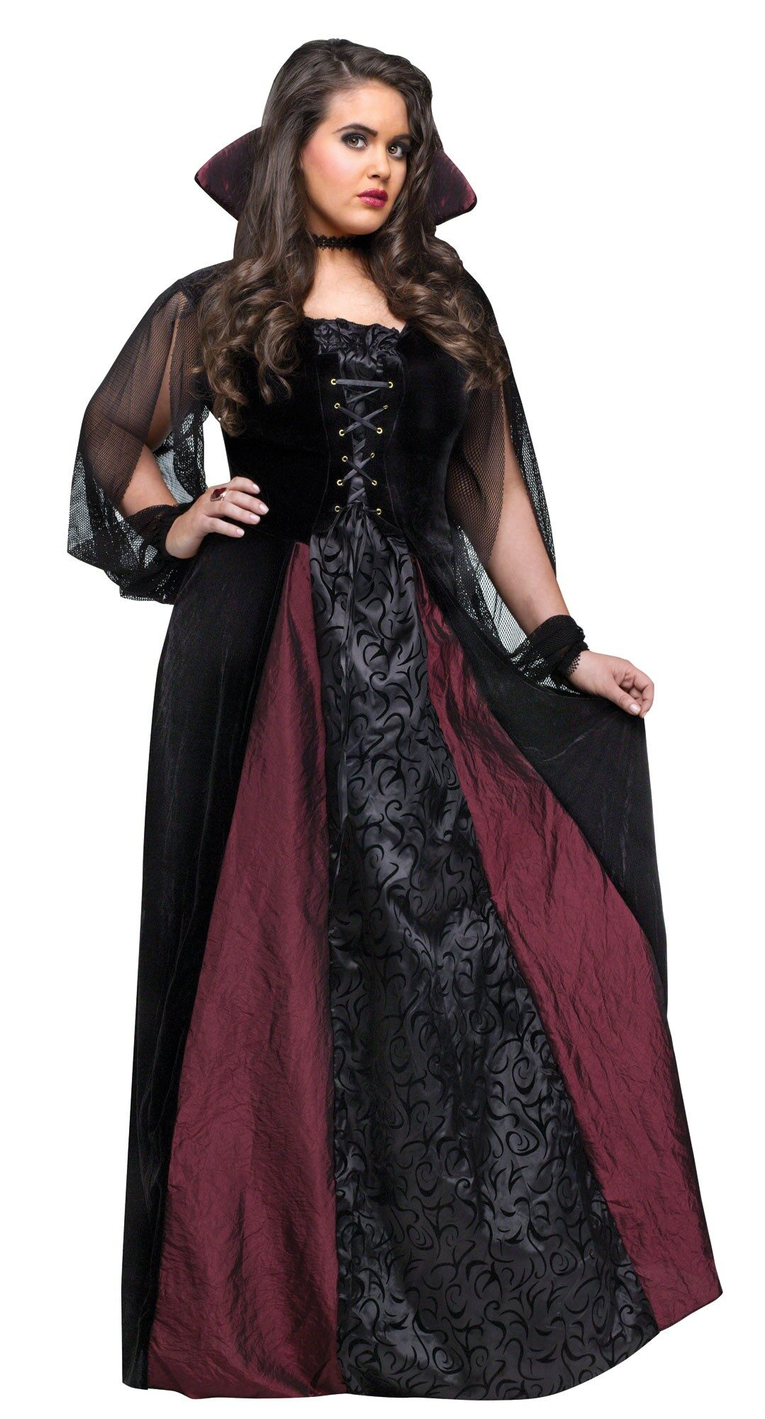 Gothic Vampire Maiden Plus Size Costume - Mr. Costumes