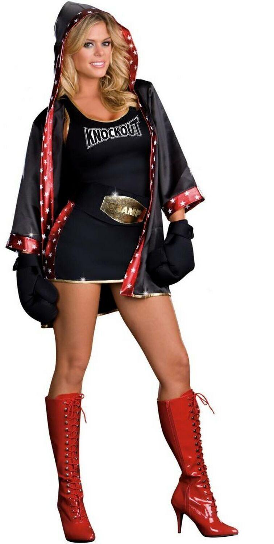 Sexy boxer girl costume
