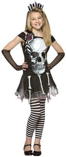 Glam Skull Face Gothic Kids Costume Mr Costumes