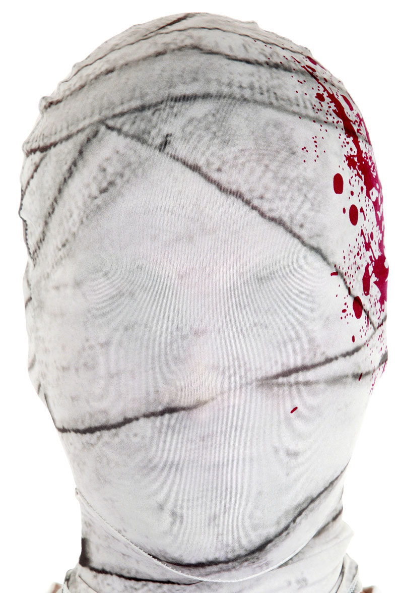 White Mummy Morph Mask Mr Costumes