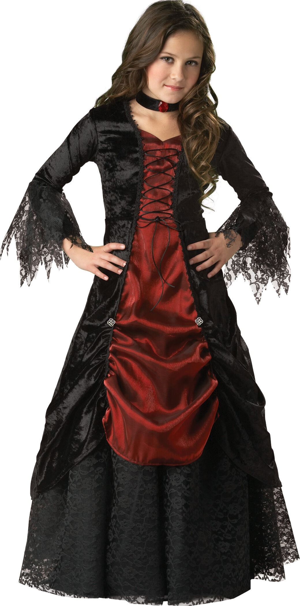 Dark Darling Vampiress Kids Costume - Mr. Costumes