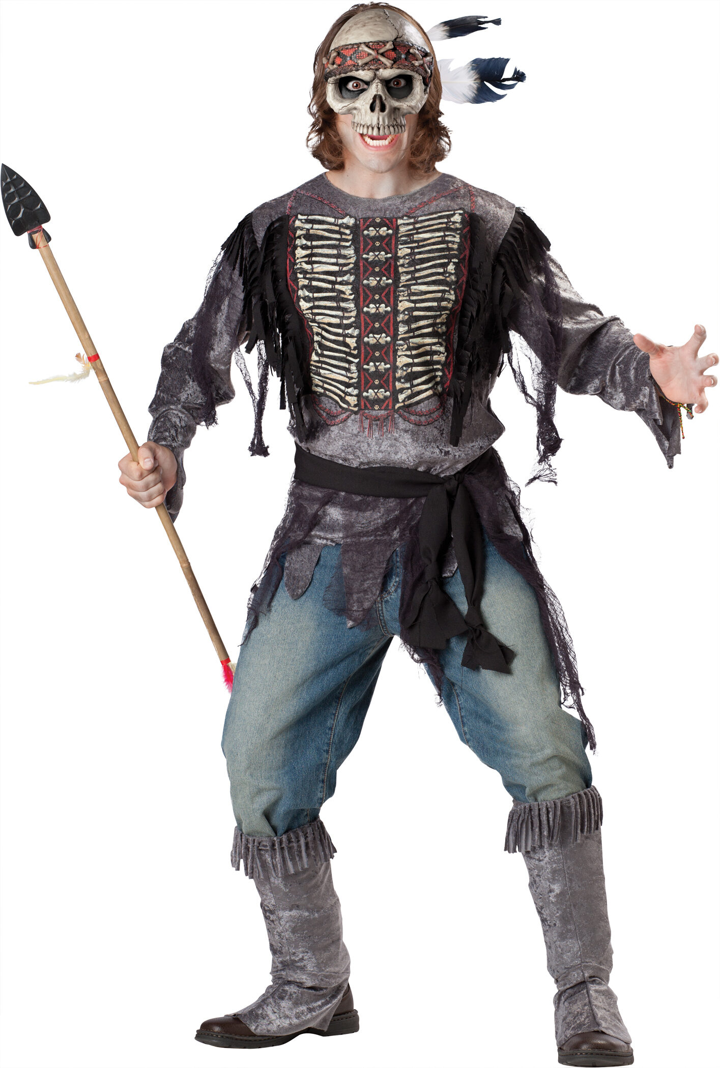 scary spirit warrior adult costume mr costumes