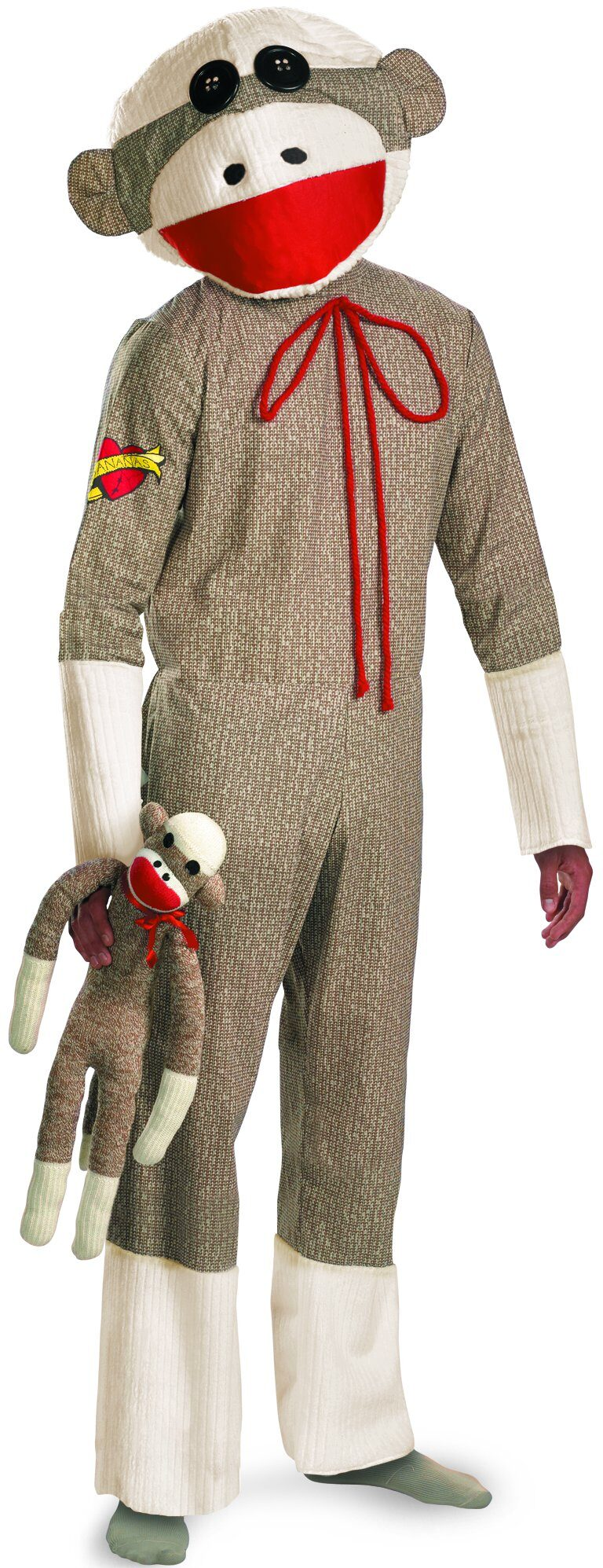 Sock Monkey Adult Costume - Mr. Costumes