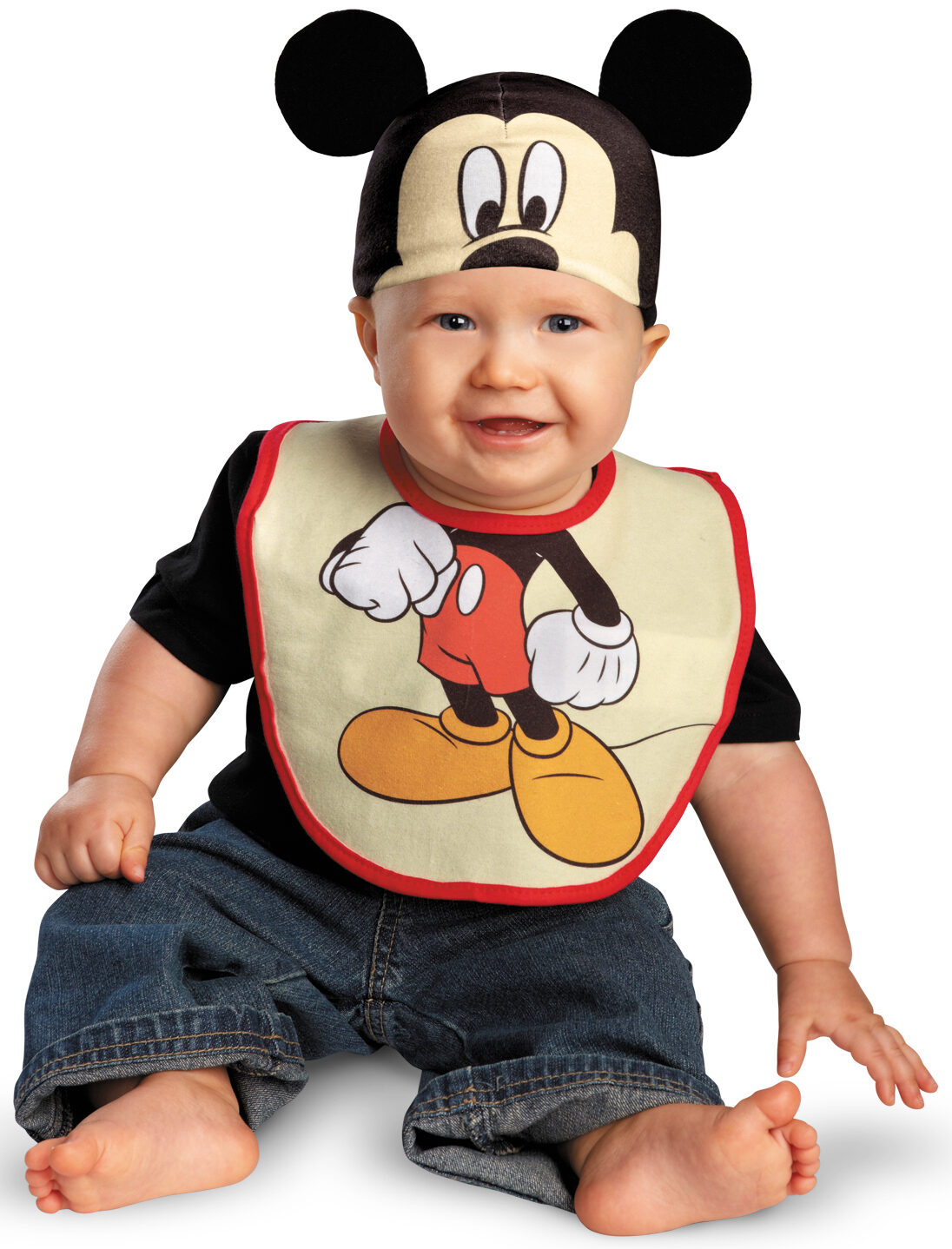 Disney Mickey Mouse Bib and Hat Baby Costume - Mr. Costumes 0dfd26d1d31