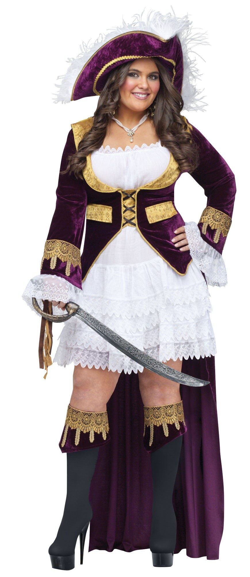 Caribbean Queen Pirate Plus Size Costume - Mr. Costumes e5a183cd6