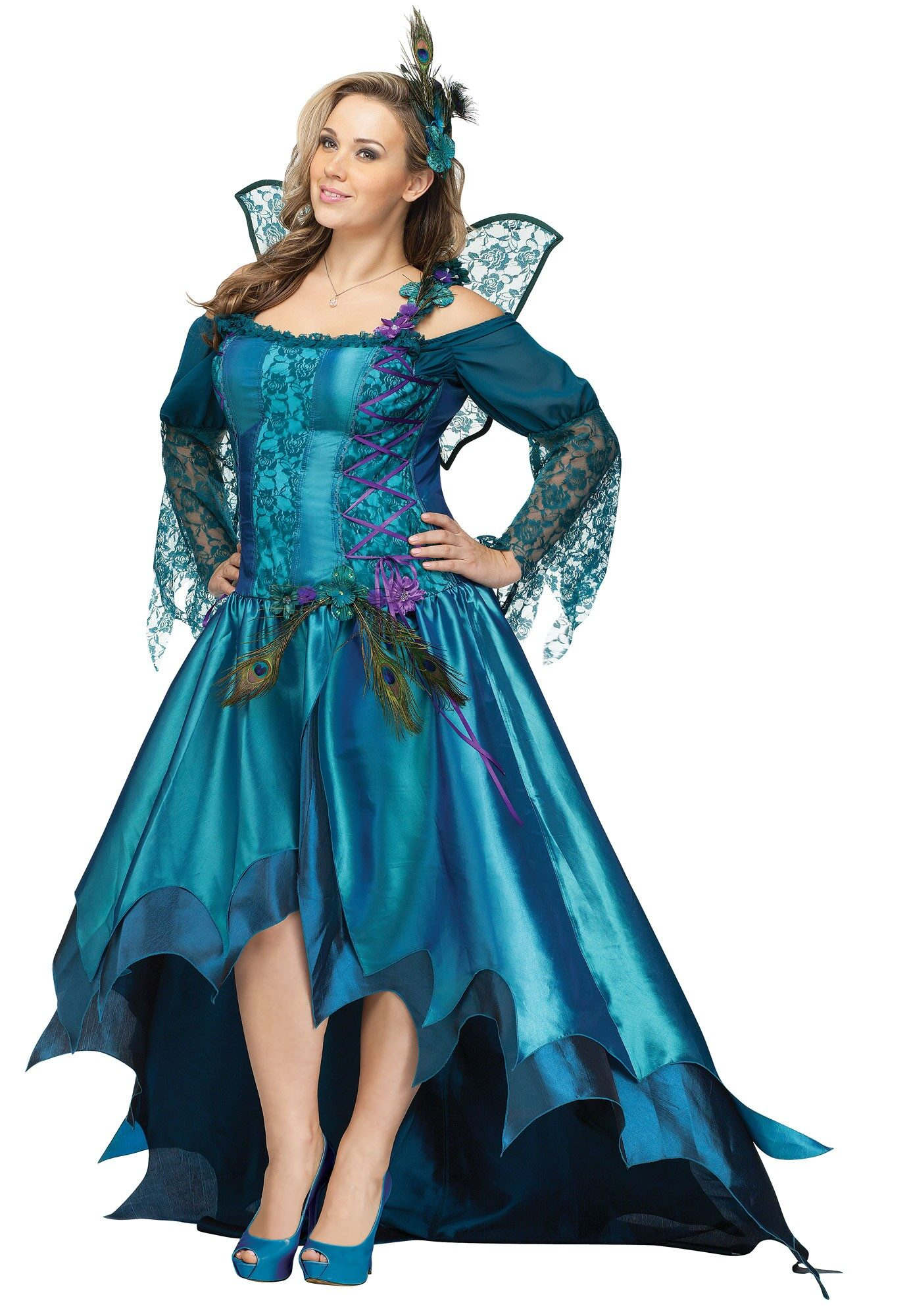 Elegant Peacock Fairy Plus Costume Costumes