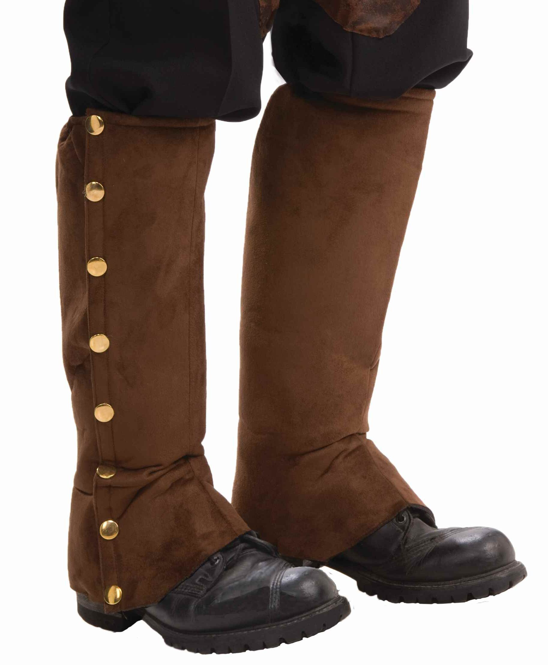 Steampunk Brown Suede Boot Covers Mr Costumes