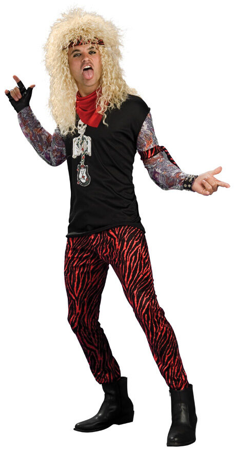 Halloween Rockstar.80s Rockstar Adult Costume Mr Costumes