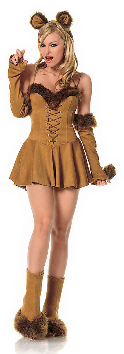 Womens Sexy Cuddly Lion Costume - Mr. Costumes