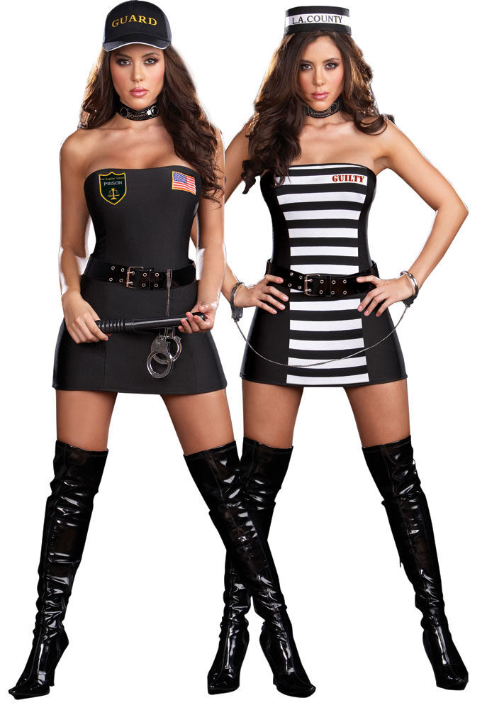 sc 1 st  Mr. Costumes & Reversible Prison Guard Sexy Convict Costume - Mr. Costumes