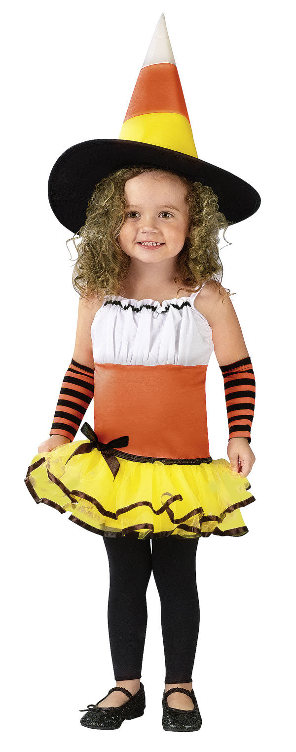 Kids Candy Corn Witch Toddler Costume - Mr. Costumes