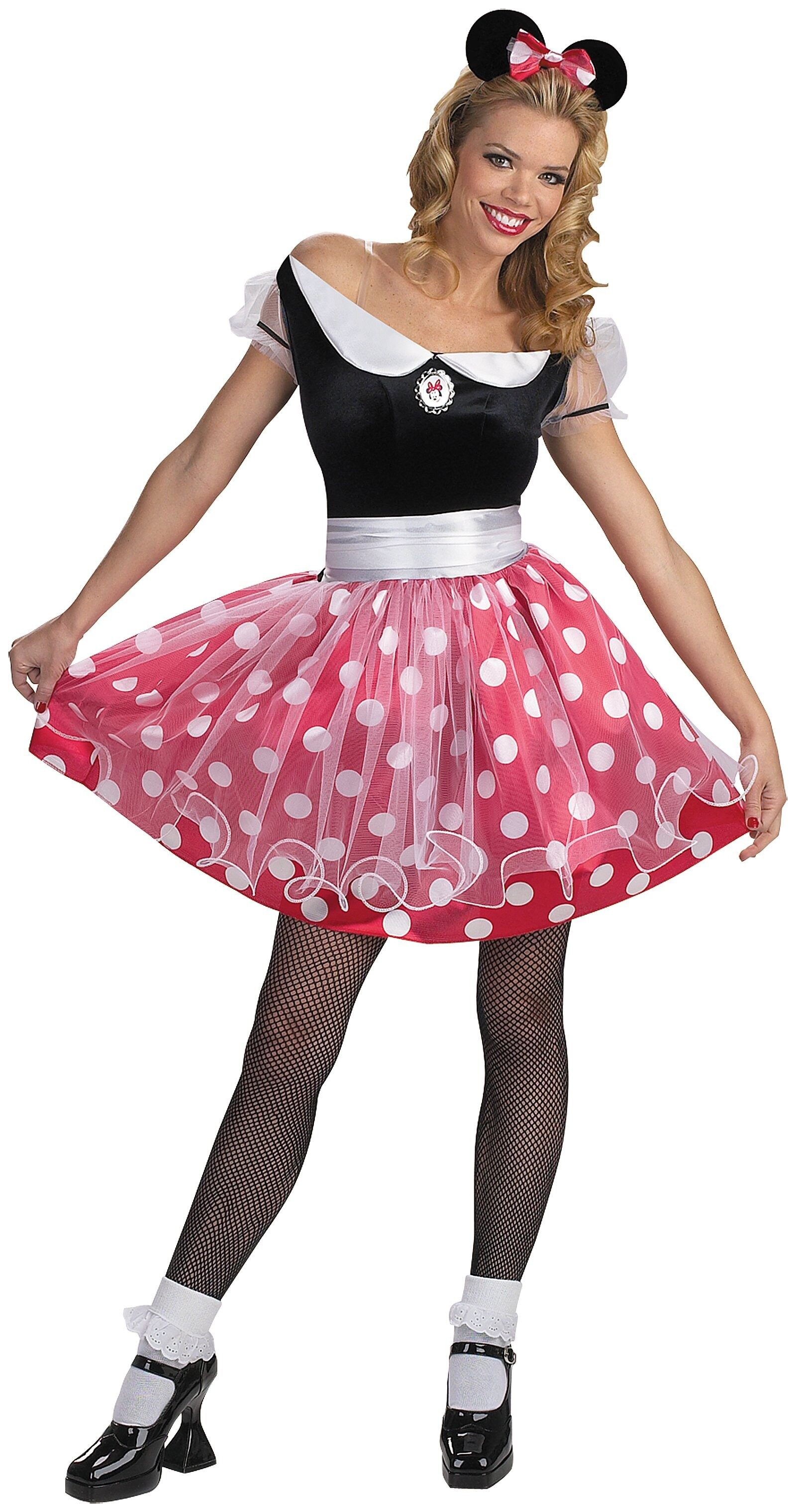 disney minnie mouse deluxe adult costume mr costumes. Black Bedroom Furniture Sets. Home Design Ideas