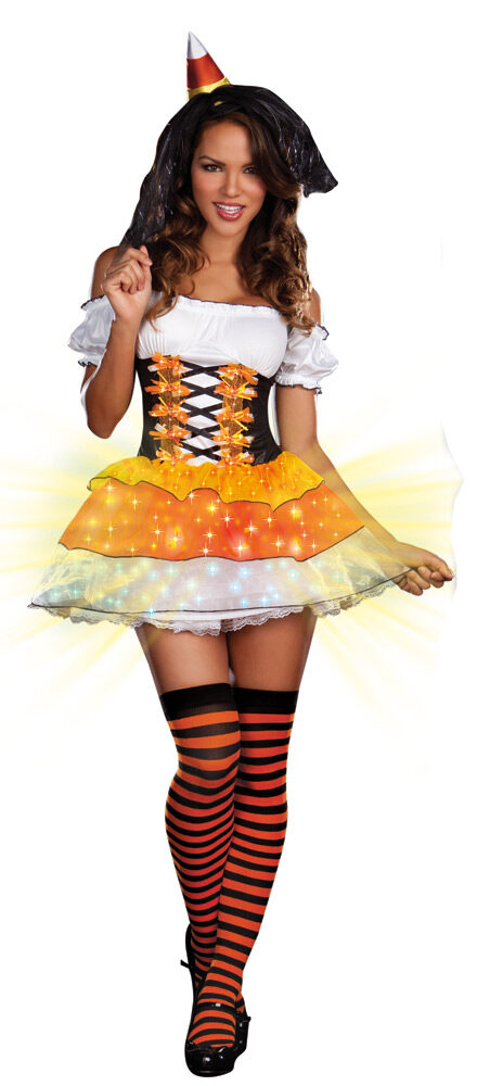 sc 1 st  Mr. Costumes & Sexy Candy Corn Cutie Light Up Witch Costume - Mr. Costumes