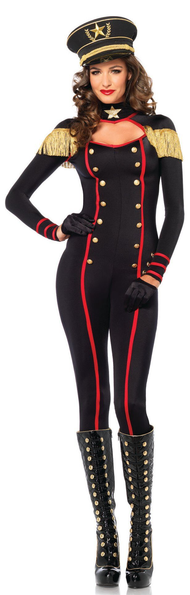 sc 1 st  Mr. Costumes & Sexy Military Catsuit Costume - Mr. Costumes