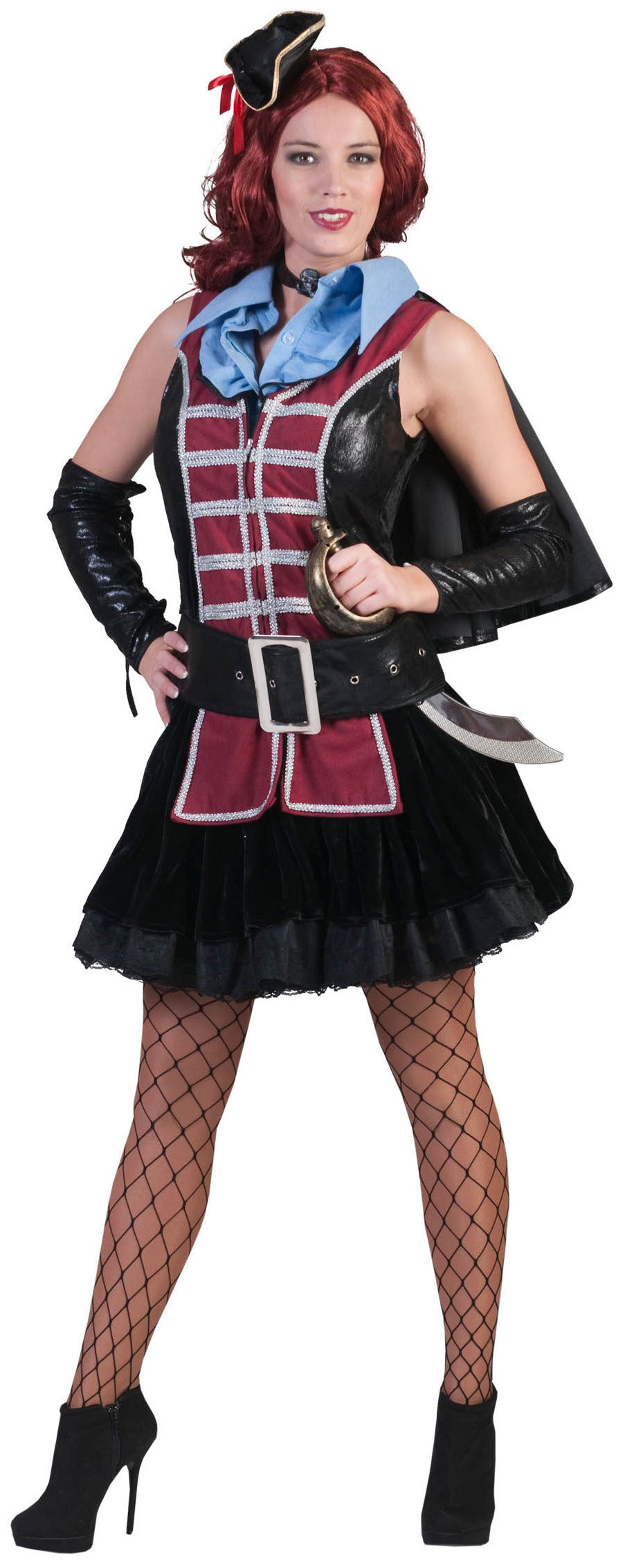 Scarlett Pirate Wench Adult Costume - Mr  Costumes