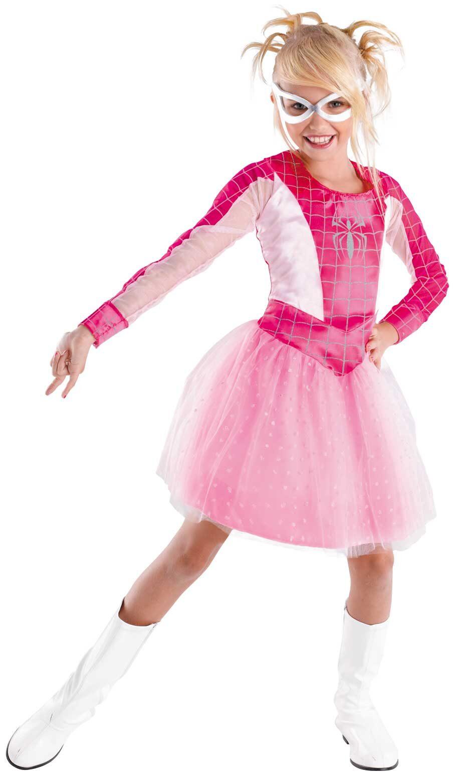 Pink Spider Girl Superhero Kids Costume Mr Costumes