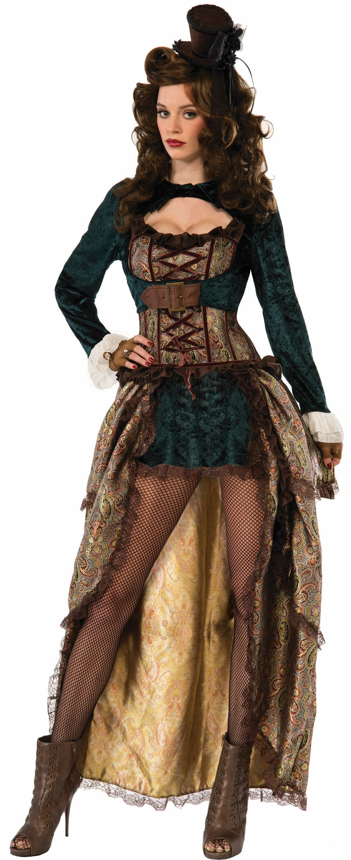 Sassy Madame Steampunk Adult Costume - Mr. Costumes