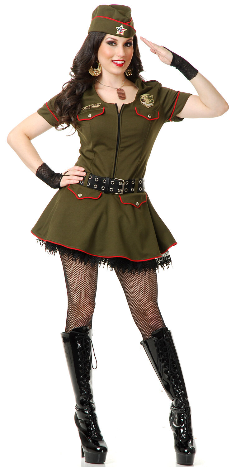 Sexy Sargent Sweetie Military Costume - Mr. Costumes