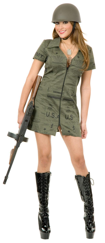Sexy GI Army Girl Costume - Mr. Costumes
