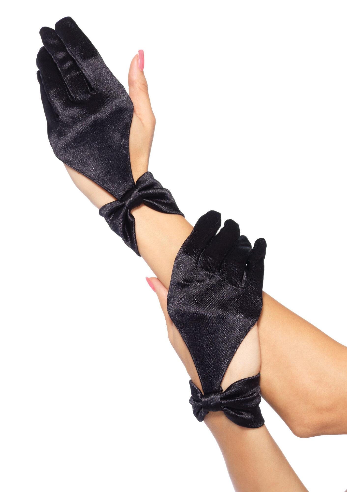 Black gloves with bow - Black Gloves With Bow 9