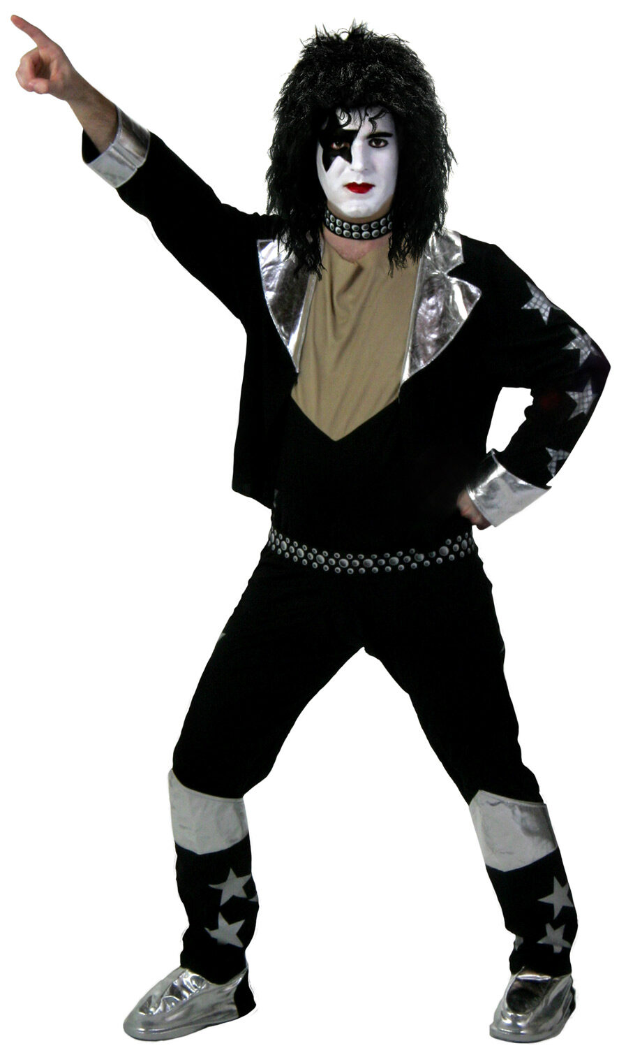 Halloween Rockstar.Starchild Kiss Rockstar Adult Costume Mr Costumes