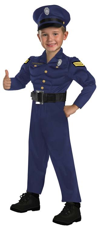 Officer awesome toddler police costume mr costumes - Police officer child costume ...