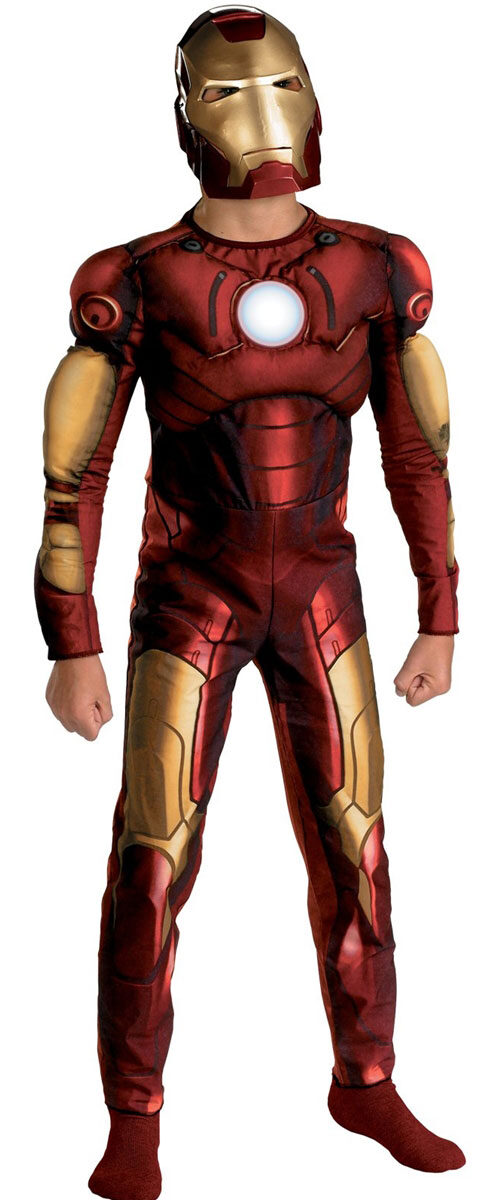 Armor your hero in Iron Man's new look as seen in Marvel's Avengers: Infinity War.A hard-shell mask, padded bodysuit, and a transforming repulsor cannon with motion-activated sounds brings their super hero daydreams to life.