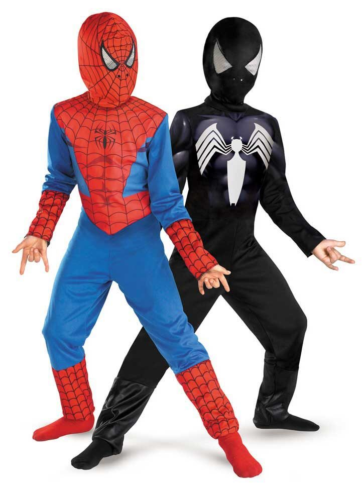 Marvel Spiderman Black Cosplay Costume For Kids This is as real as you can get to the black Spiderman suit in the movies. So if you want a good quality costume that kids can wear for a long time, have a look at this.