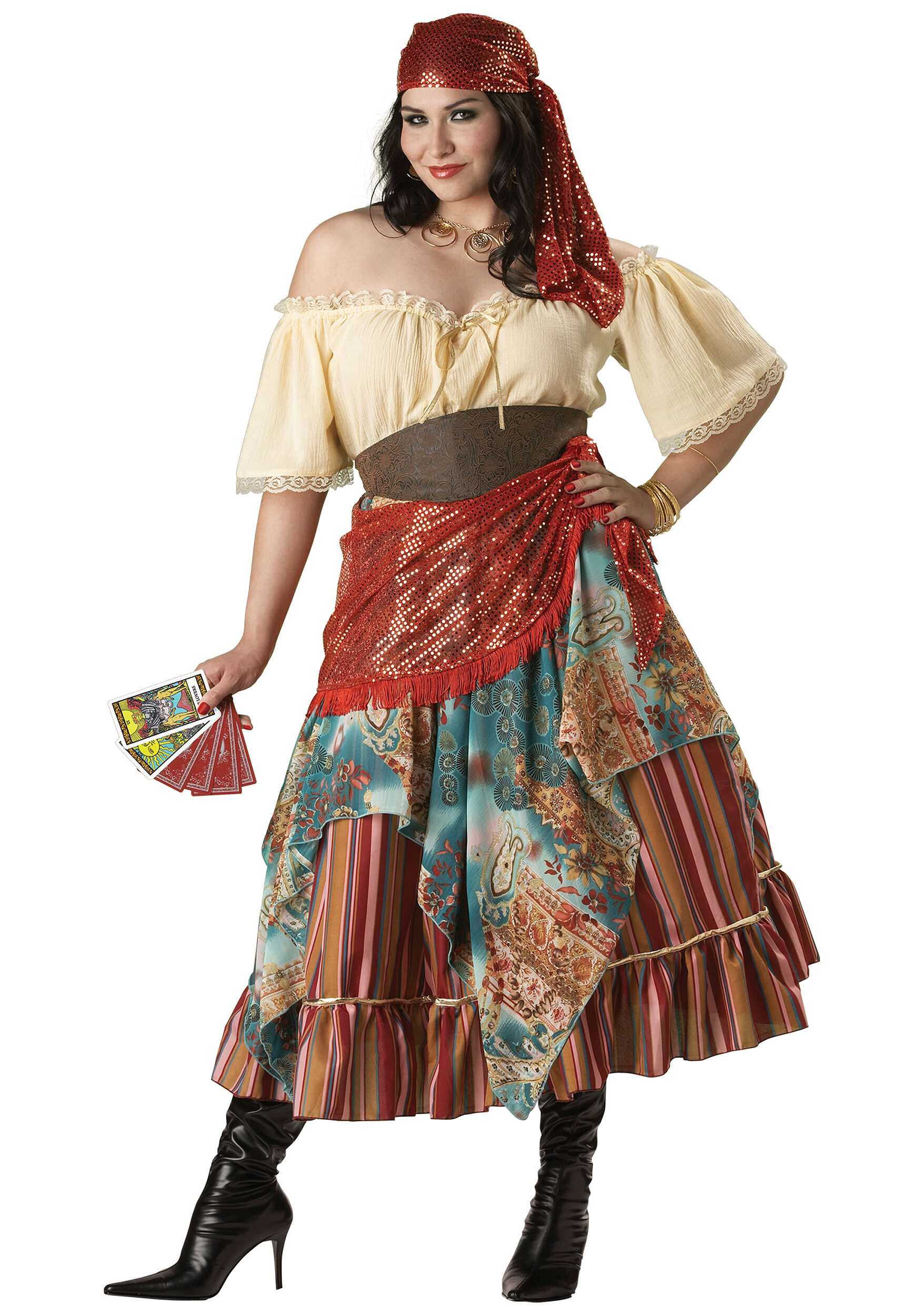 Fortune Teller Plus Size Gypsy Costume