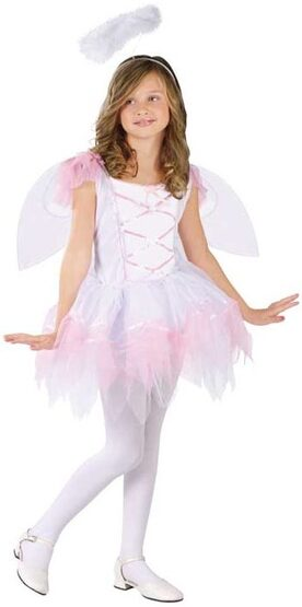 Girls Angelina Ballerina Kids Angel Costume