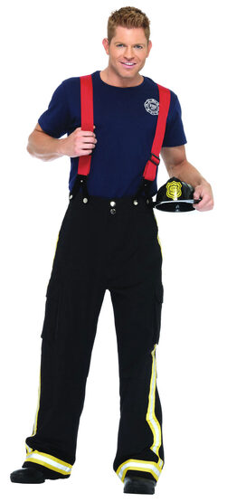 Mens Fire Captain Adult Firefighter Costume