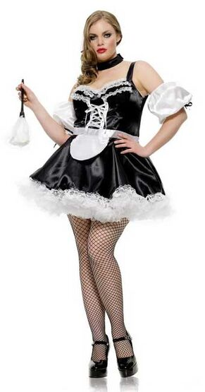 Leg Avenue Plus Size French Maid Costume