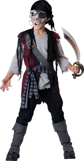 Boys Shipwrecked Zombie Pirate Kids Costume
