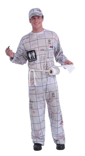 Funny Bathroom Wall Guy Adult Costume