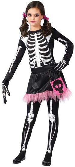 Teen Skel-A-Girl Skeleton Costume
