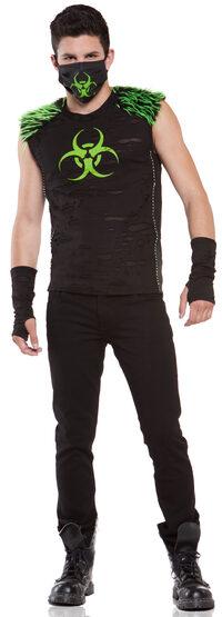 Mens Bio-Hazard Cyber Gothic Adult Costume