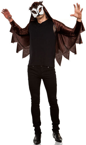 Mens Caped Owl Haunt You Adult Costume