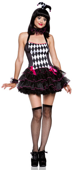 Sexy Harlequin Holly Costume