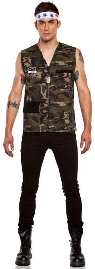 Mens Military Head of Command Adult Costume